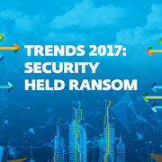 Image of page reading Trends 2017: Security held ransom